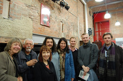 [Arc with Macedonian & Lativian poets at the IABF, Manchester]