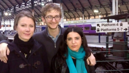with Gerður Kristný and Bejan Matur at a chilly Hull train station
